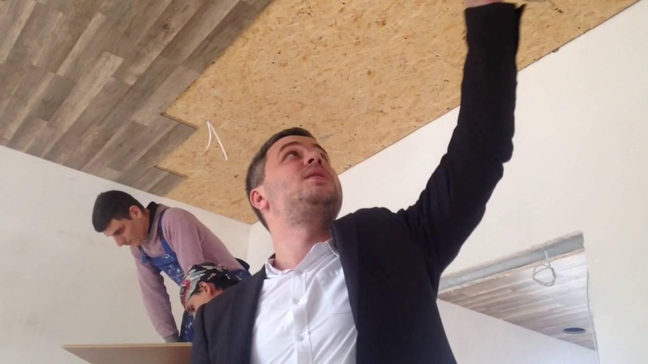 Как крепить ламинат на потолок: пошаговая инструкция