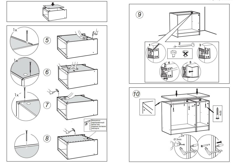 Кухонный гарнитур: компоновка, проектирование, чертежи, изготовление, сборка