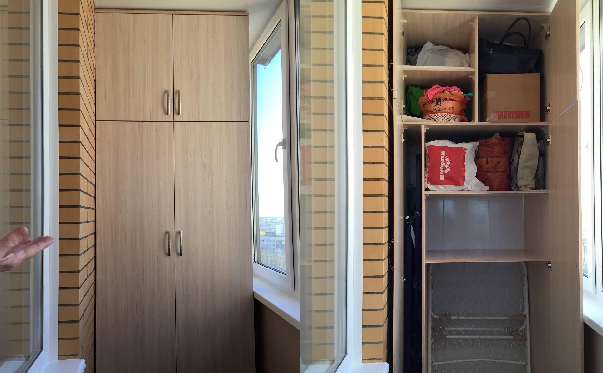 Как сделать шкаф на балконе своими руками из доступных материалов