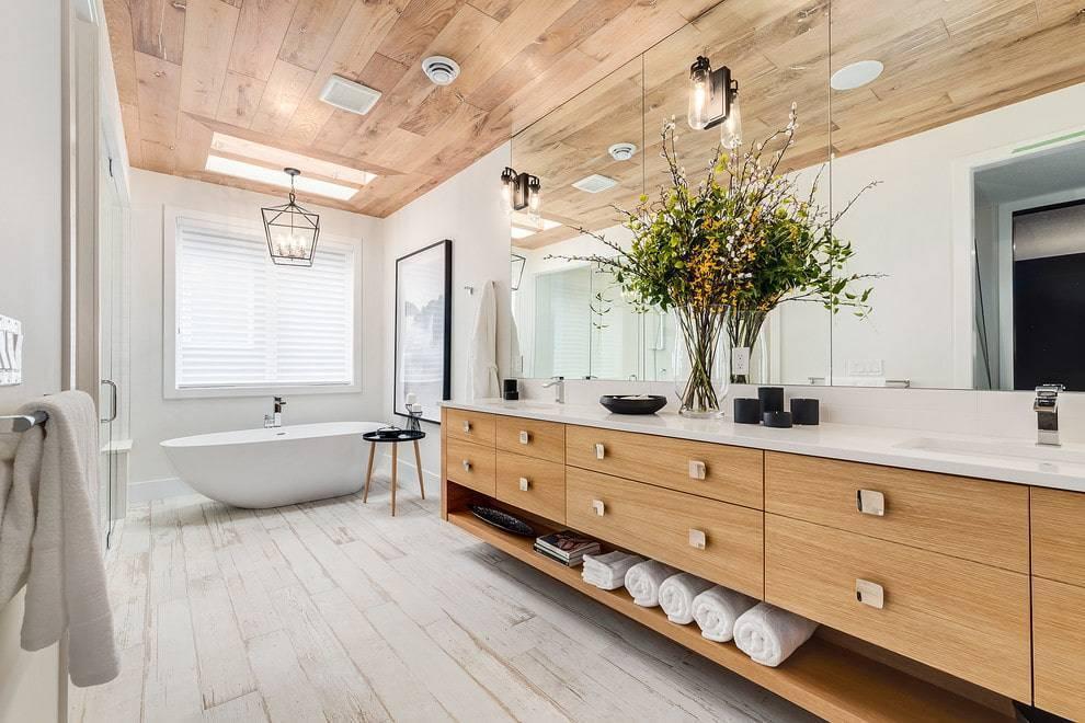 Выбираем подходящий дизайн для ванной в деревянном доме