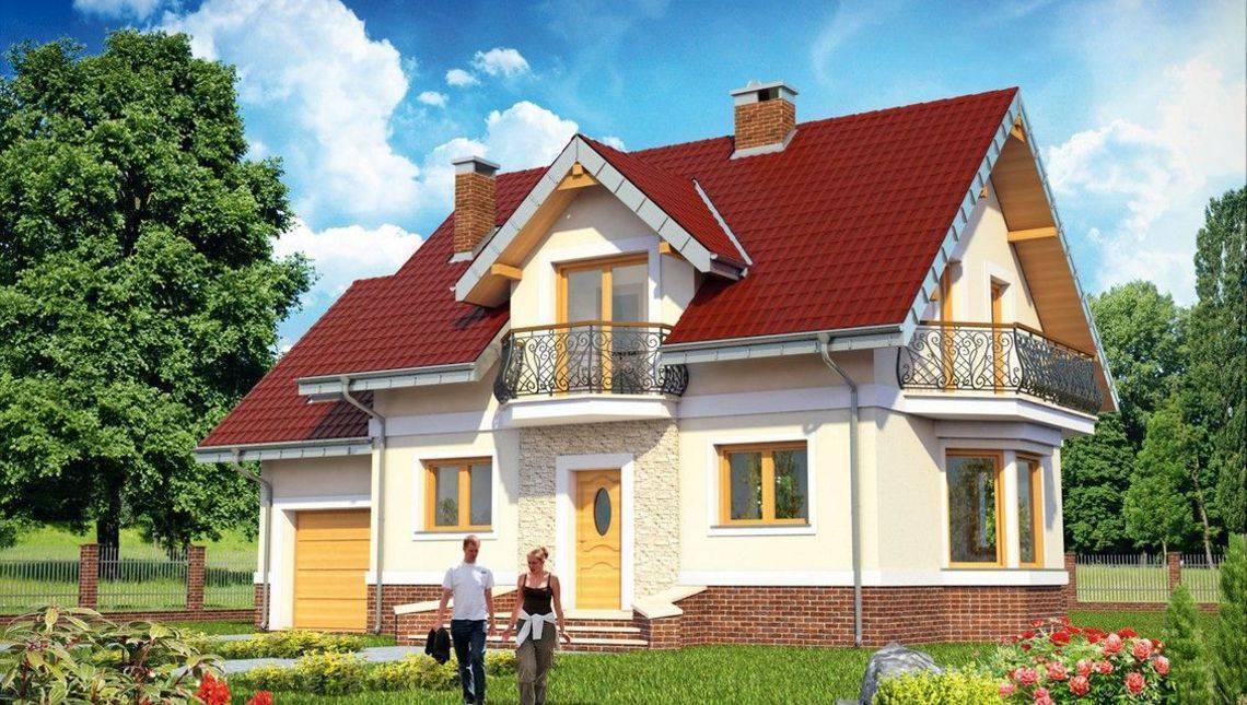 Проекты каркасных домов с эркером и мансардой