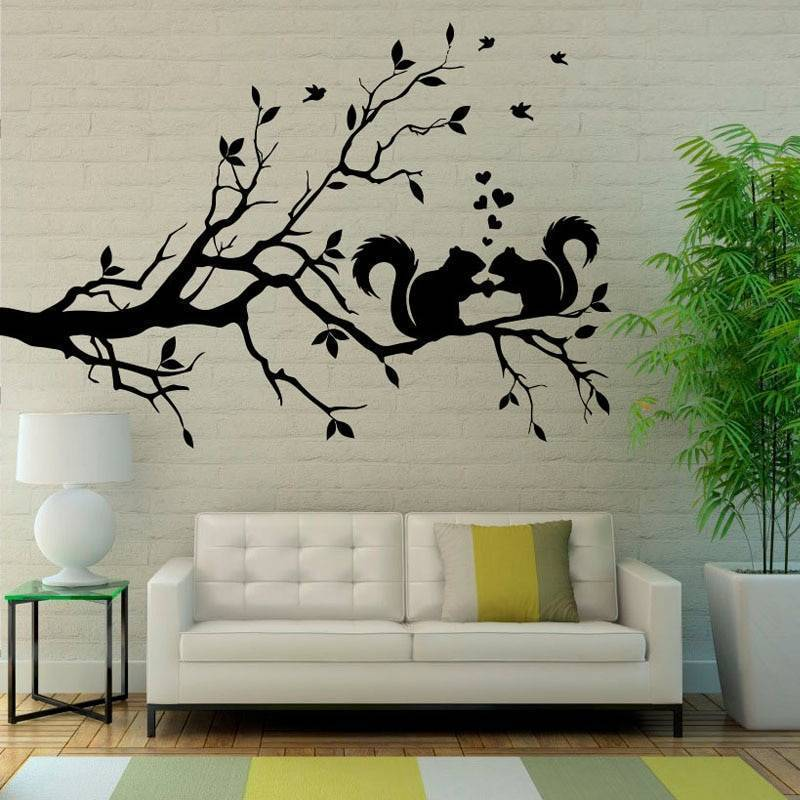 Наклейки на стену: виниловые, интерьерные, декоративные