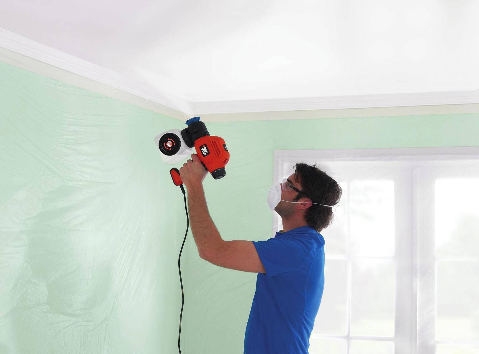 Краскопульты для покраски стен и потолка: виды и применение