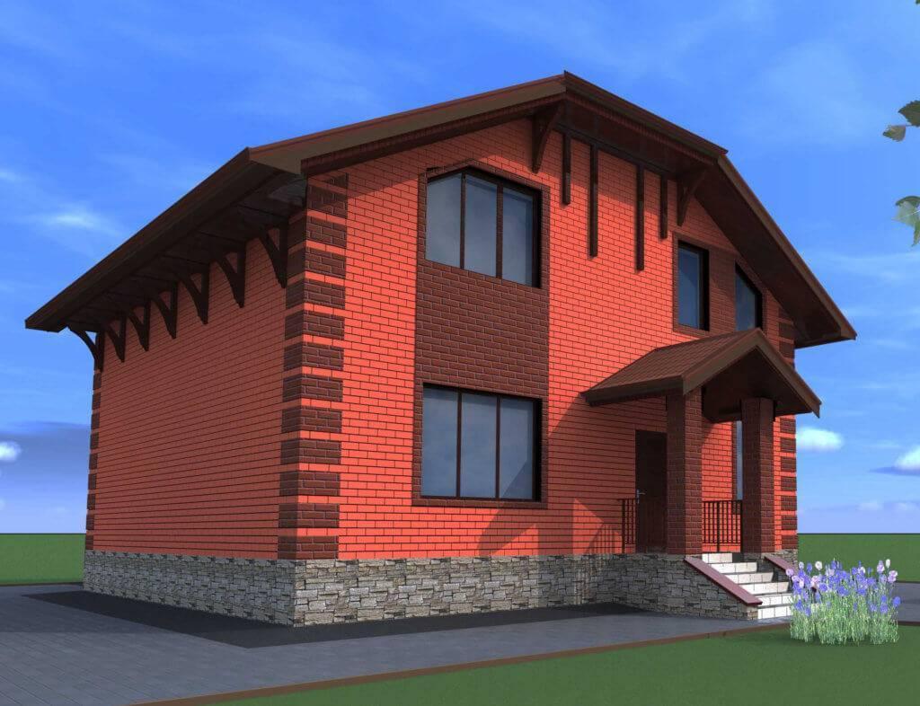 Дом из кирпича - 150 фото лучших проектов. с чего начать строительство дома? ответ здесь!