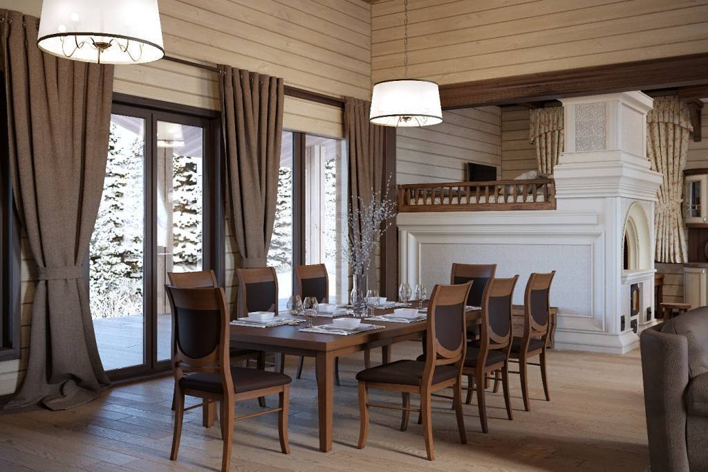Интерьер дома из бруса: фото лучших вариантов дизайна всех комнат