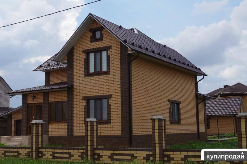 Кирпичные дома из желтого и коричневого кирпича: красивые проекты и фото