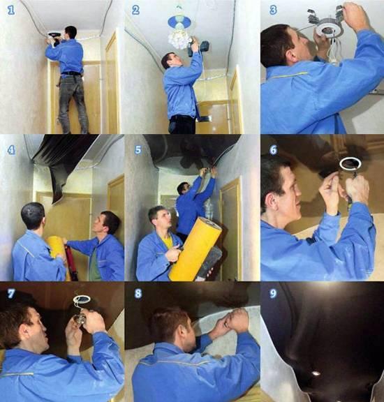 Полный обзор всех возможных способов монтажа натяжных потолков