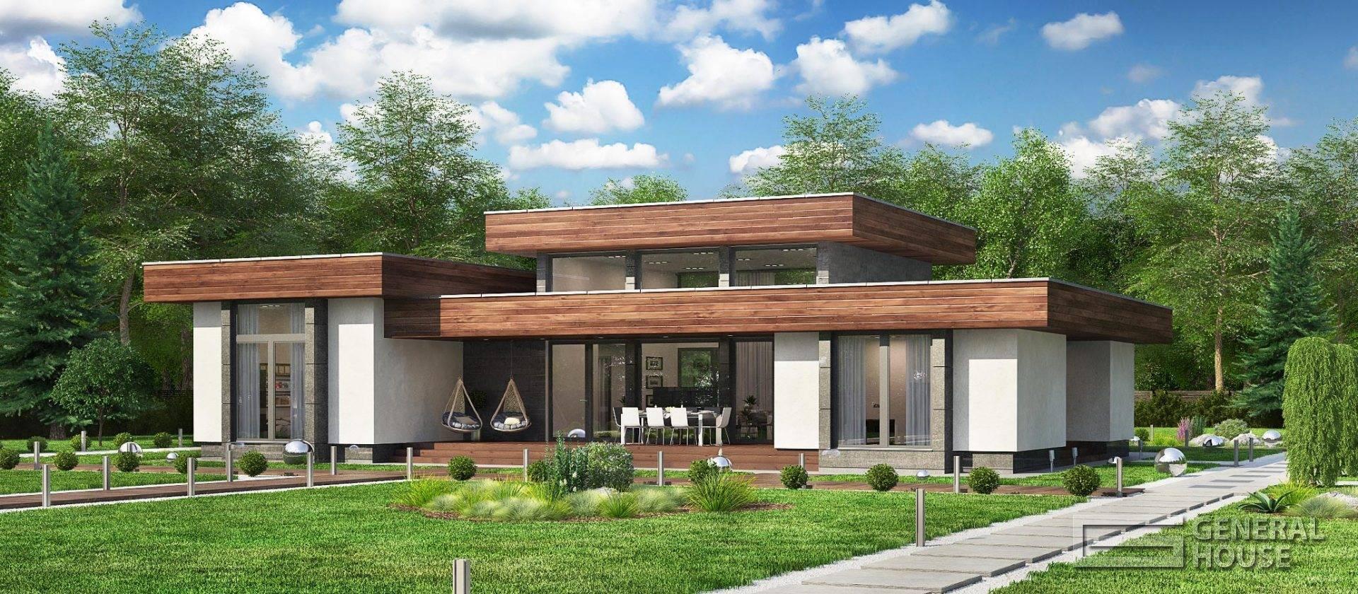 Каркасный дом в стиле хай тек