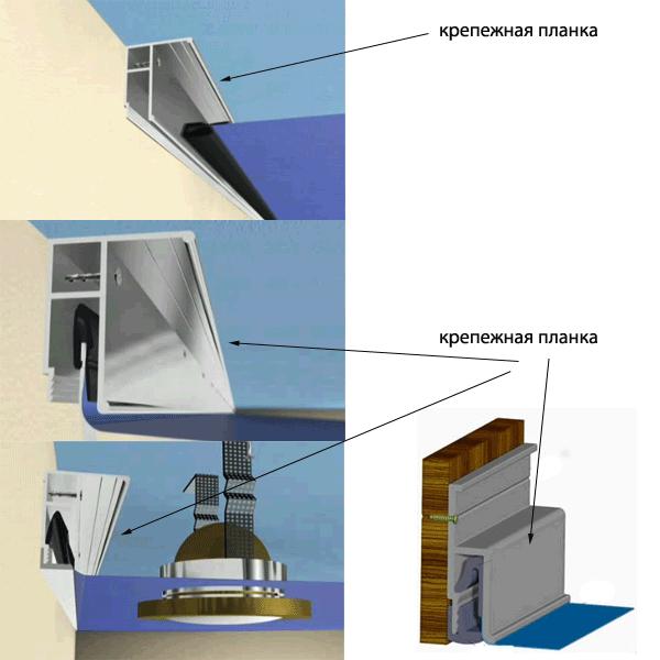 Гарпун для натяжных потолков