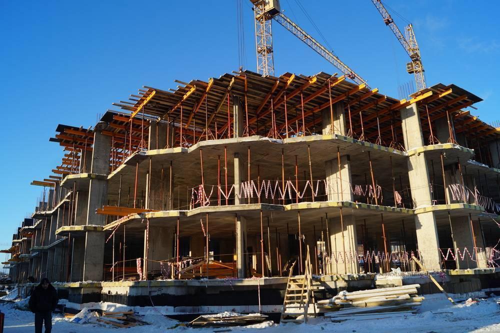 Процесс строительства многоэтажных домов по монолитной технологии