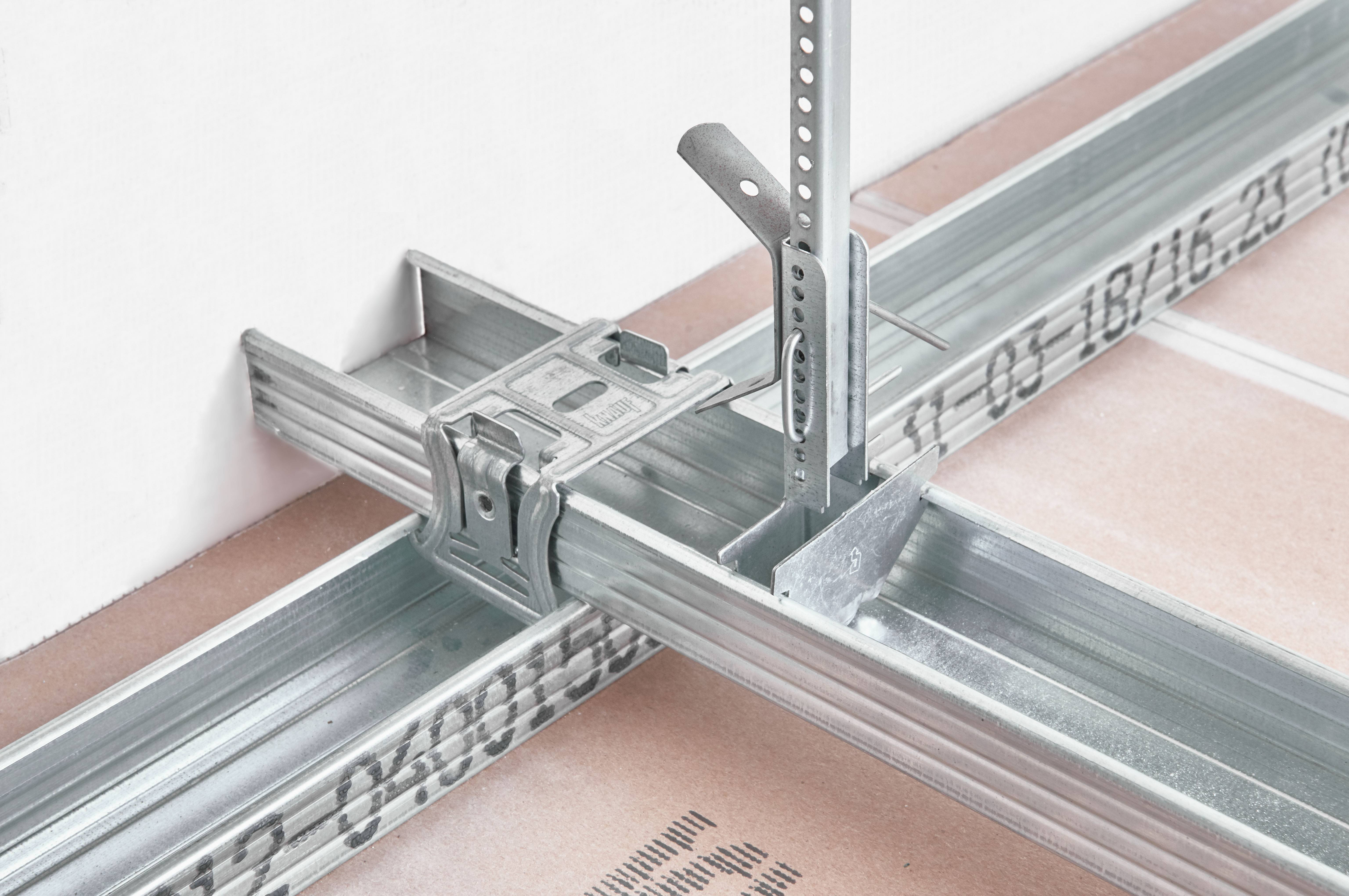 Потолочный профиль для гипсокартонных потолочных конструкций. создание каркаса для потолка из гипсокартона: инструкция по сборке и монтажу