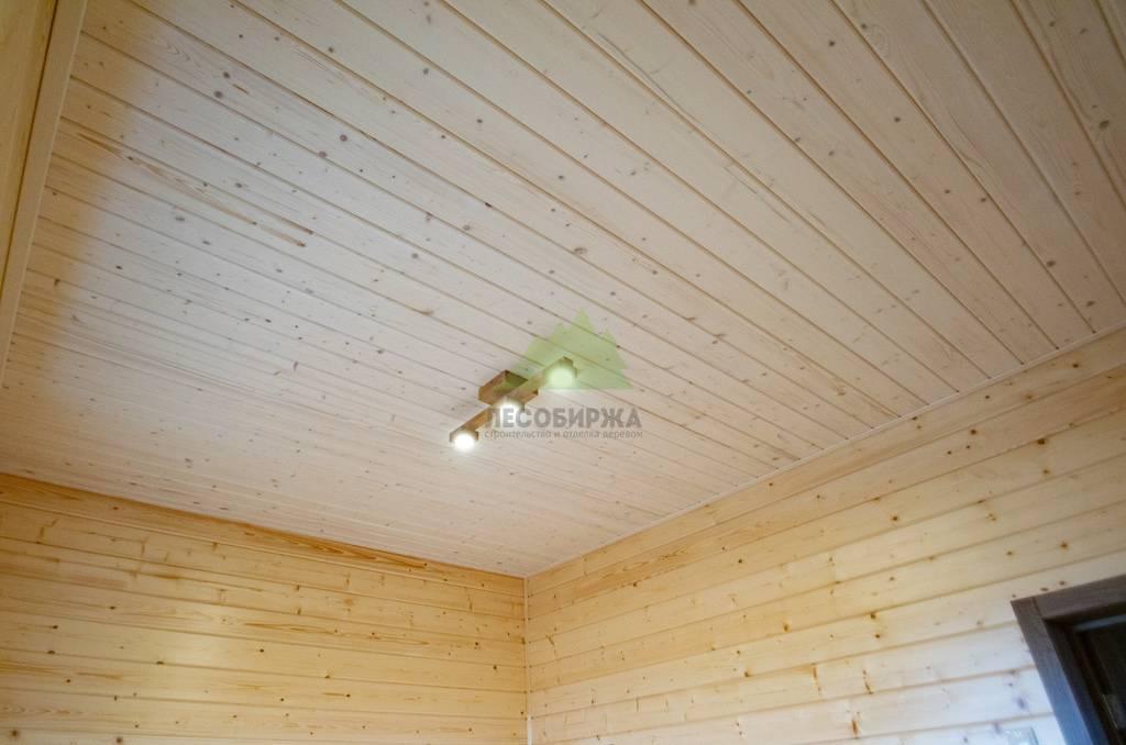 Широкая вагонка для внутренней отделки, потолка и стен