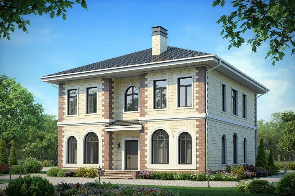 Двухэтажный дом из газобетона: строительство, проекты домов в 2 этажа