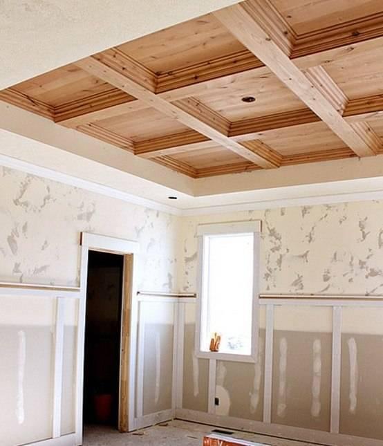 Как сделать потолок в частном доме
