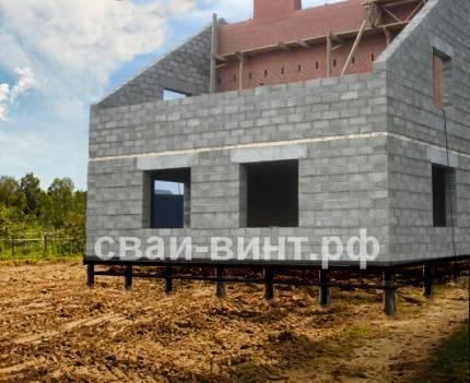 Технология строительства свайно-ростверкового фундамента для дома из газобетона