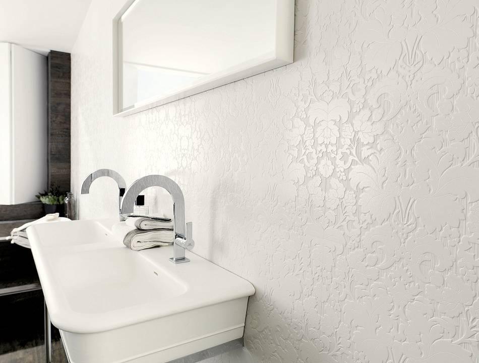 Жидкие обои для ванной комнаты – можно ли клеить? + видео / vantazer.ru – информационный портал о ремонте, отделке и обустройстве ванных комнат