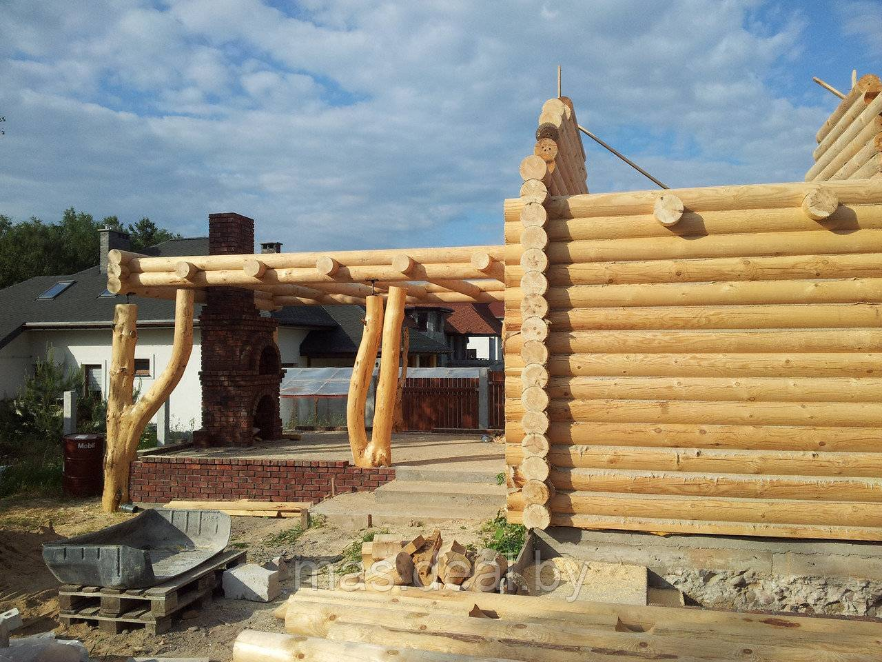 Технология строительства дома из профилированного бруса своими руками
