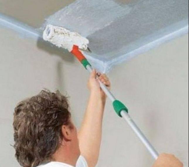 Как побелить потолок своими руками
