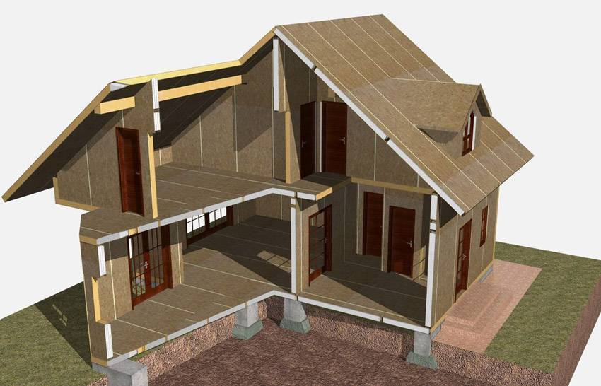 Каркасно-панельные дома: технология строительства