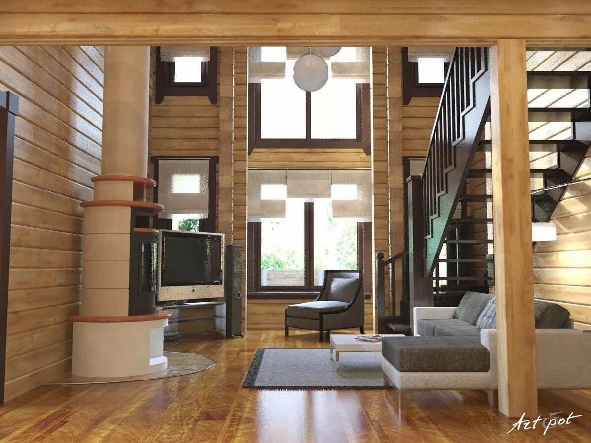 Интерьер дома из бруса: 100+ фото, идеи дизайна