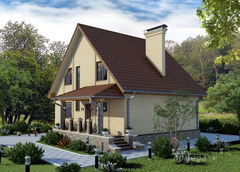 Дачный дом с террасой: фото и проекты кирпичных домов с мансардой