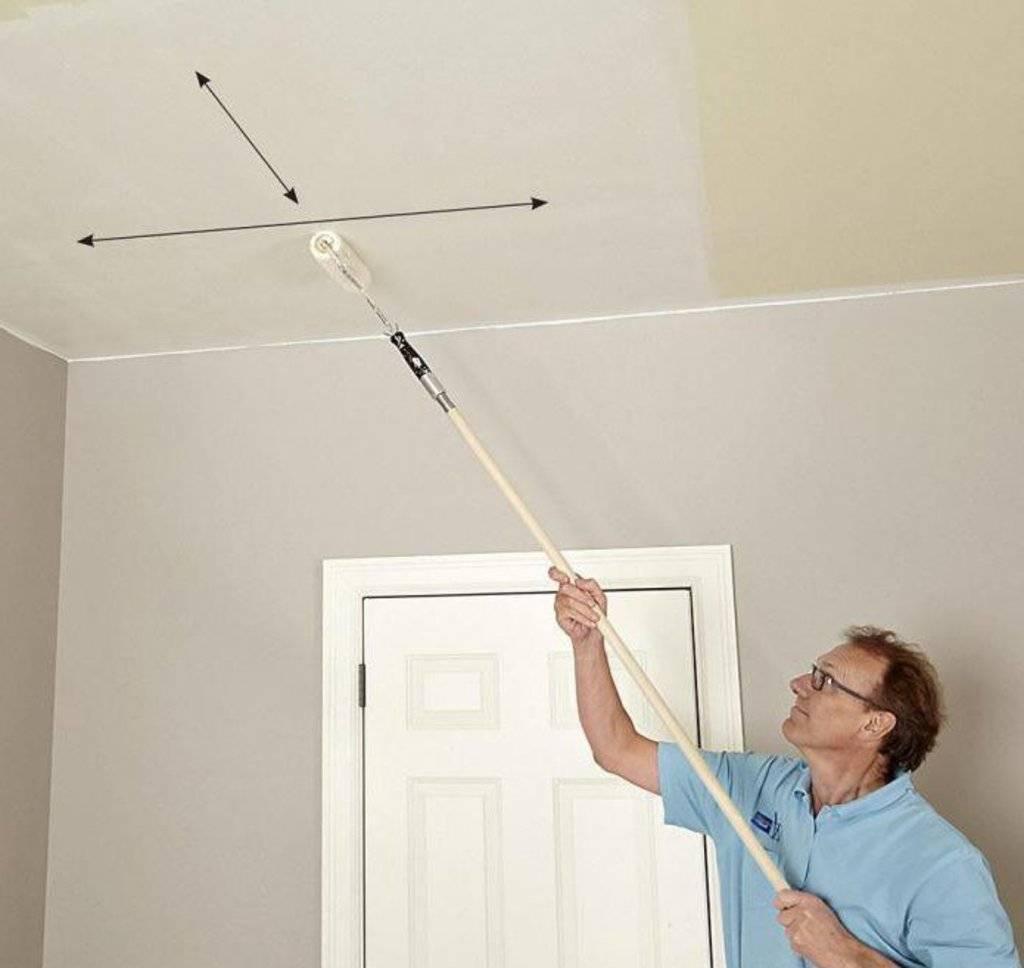 Как побелить потолок правильно своими руками