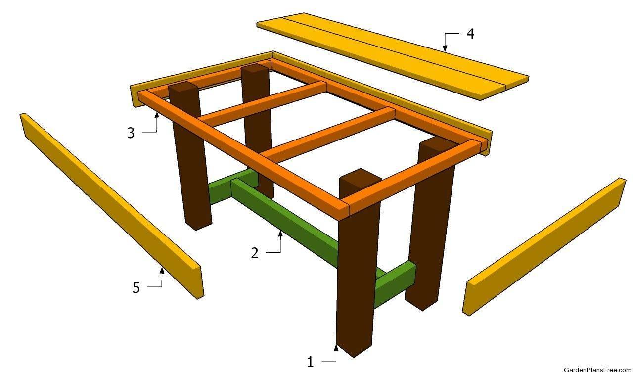 Дачный стол своими руками: лучшие проекты и не сложные для постройки идеи (120 фото)