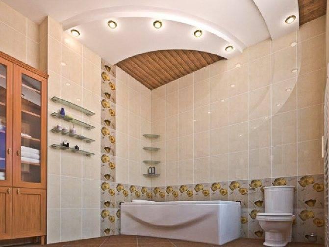 Гипсокартонный потолок своими руками в ванной комнате и видео инструкция