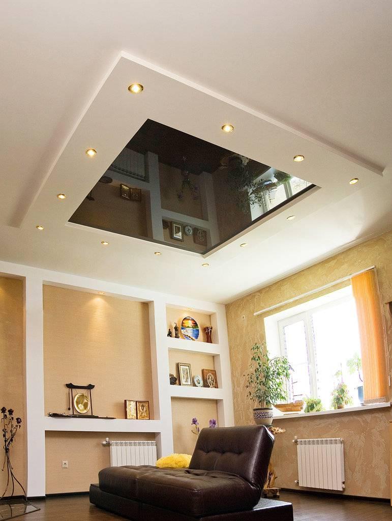 Потолок из гипсокартона – в чем его особенности и преимущества? монтаж потолка из гипсокартона своими руками (+ видео)