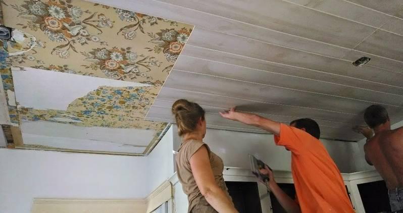 Монтаж мдф панелей на потолок своими руками видео