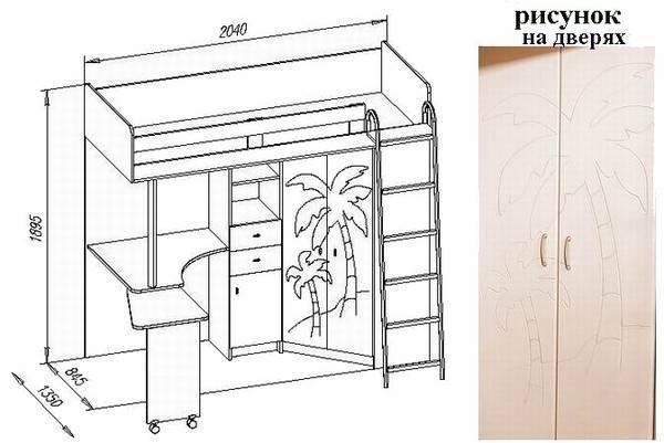 Детская мебель своими руками: чертежи и схемы сборки