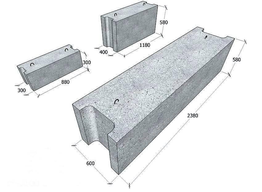 Делаем фундамент из блоков фбс, пошаговая инструкция