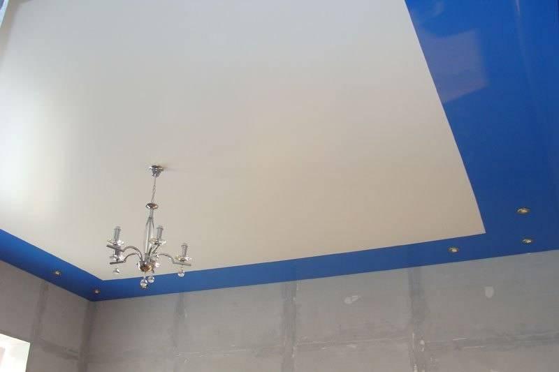 Спайка натяжных потолков