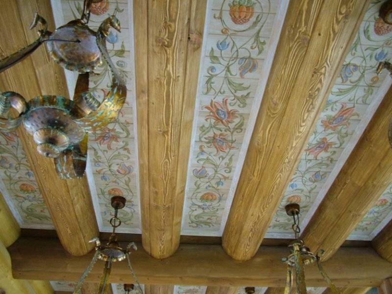 Из чего сделать потолок в деревянном доме: чем лучше покрыть, инструкция по монтажу, видео и фото