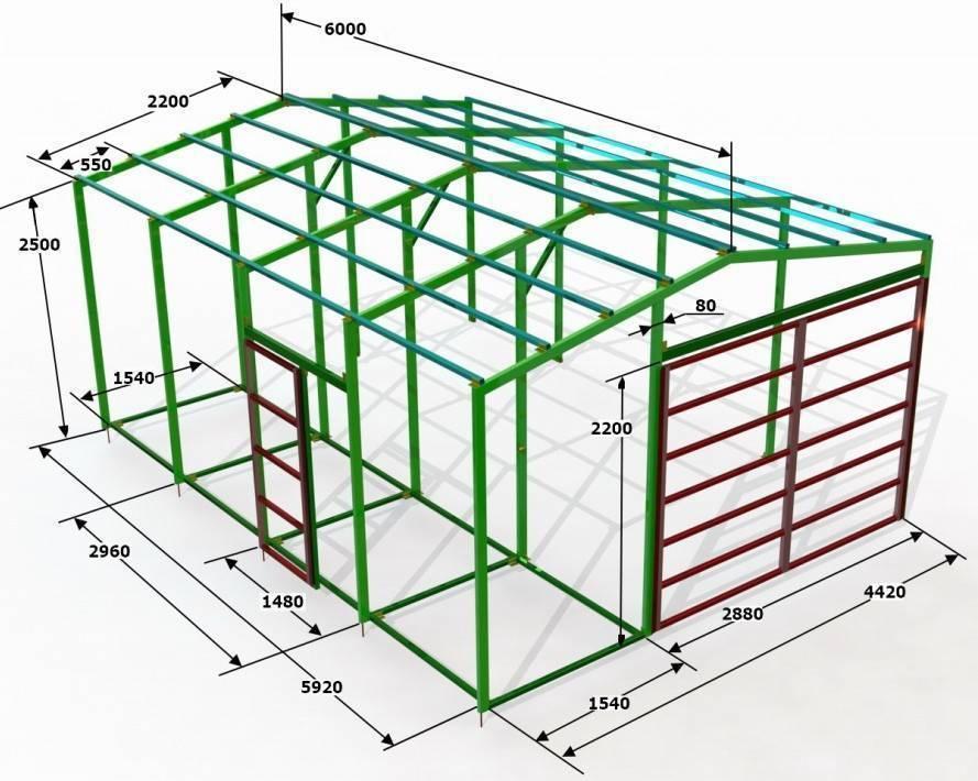 Металлический сарай: делаем хозблок из профильной трубы своими руками для дачи, сборные и разборные варианты конструкций из металла