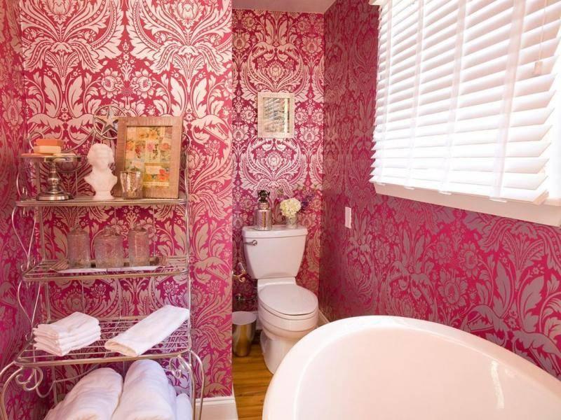 Моющиеся обои для ванной комнаты - инструкция по выбору и наклеиванию, виниловые можно ли клеить.