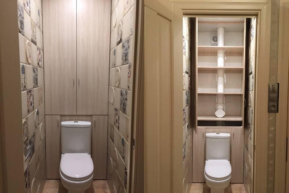 Как можно сделать шкаф в туалете из гипсокартона с полками