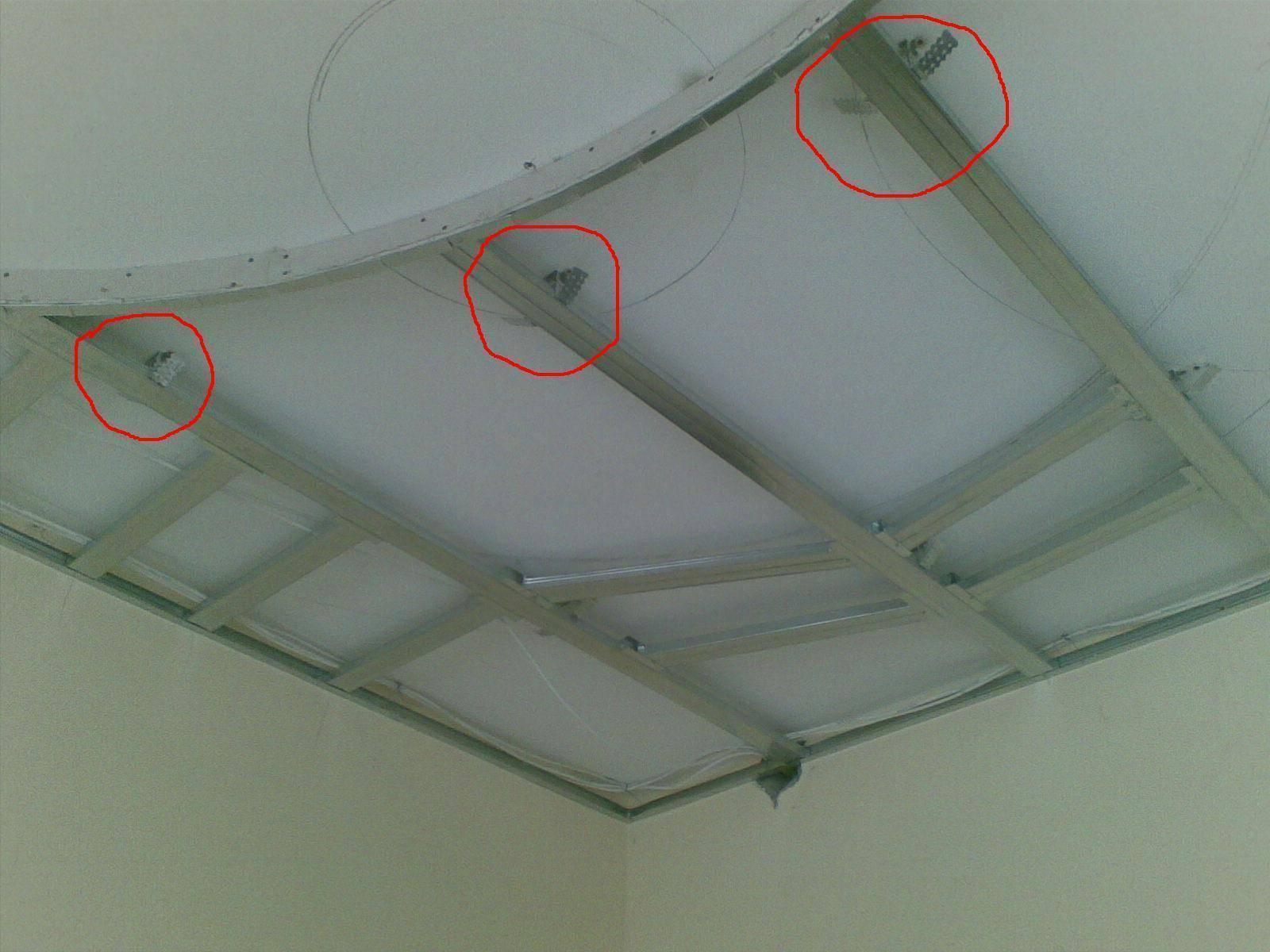 Монтаж потолка из гипсокартона: инструкция как установить, схема, видео и  детальное фото