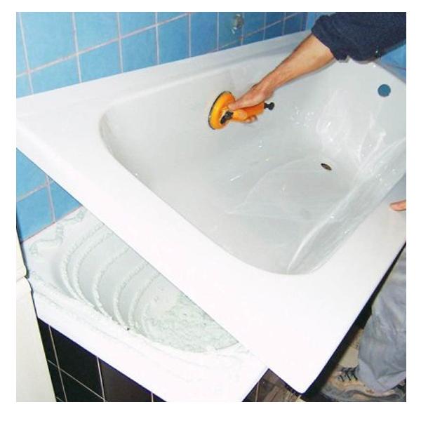 Установка акрилового вкладыша в ванну: силиконовая вставка в ванную, как установить пластиковую накладку
