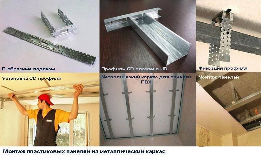Пластиковый потолок на кухне: необходимые материалы и инструменты, подготовка, монтаж каркаса и панелей