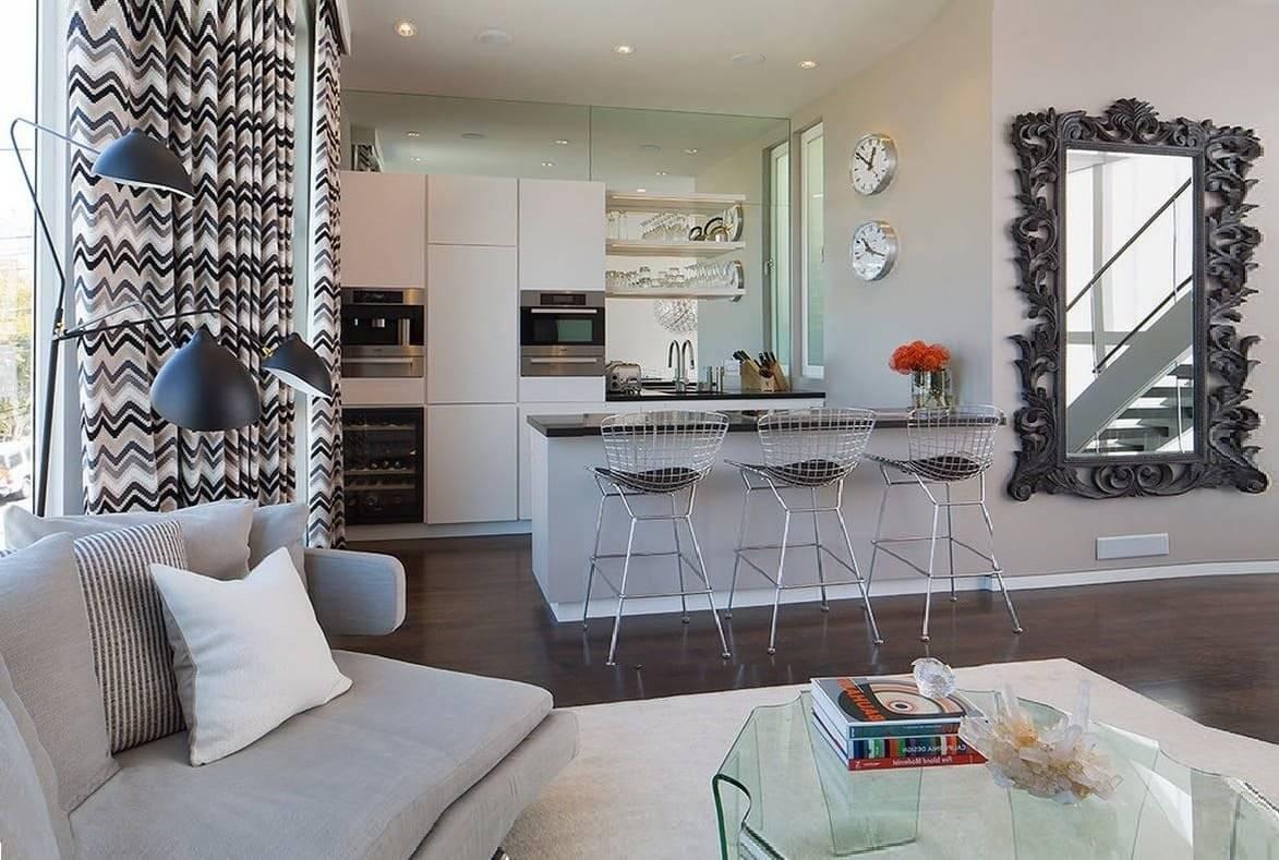 Правильное зонирование однокомнатной квартиры: как разделить на две и больше, перегородка в однушке, дизайн, идеи и примеры, фото