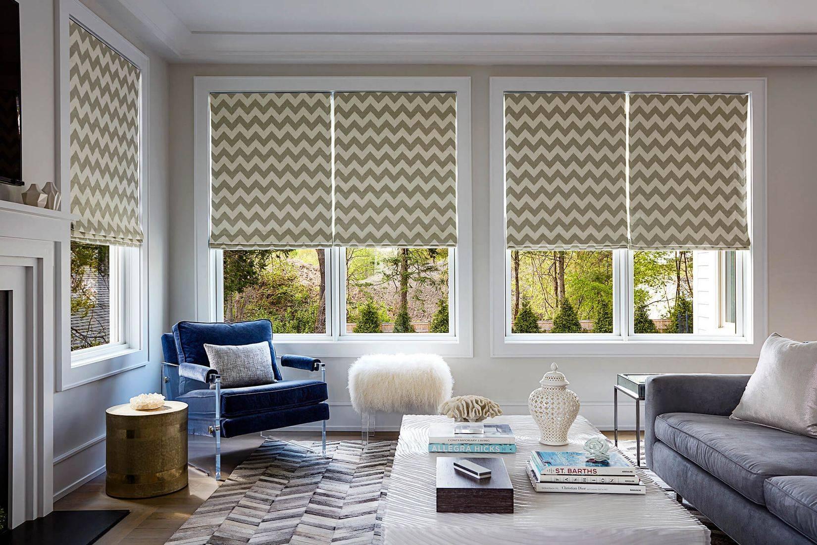 Дизайн римских штор в интерьере дома: тренды