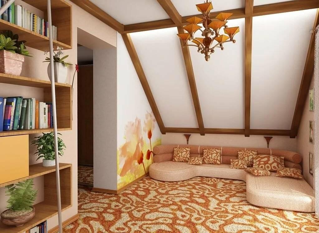 Дизайн мансарды на даче: идеи для интерьера с односкатной и двускатной крышей