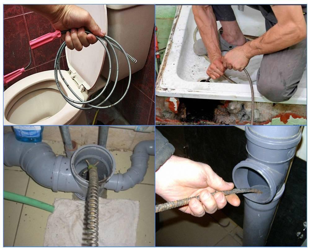 Чем прочистить сливную трубу в ванной (стиральной машинке) и на кухне | как своими руками промыть засор канализации унитаза в домашних условиях