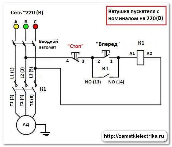 Подключение контактора схема 380 - tokzamer.ru