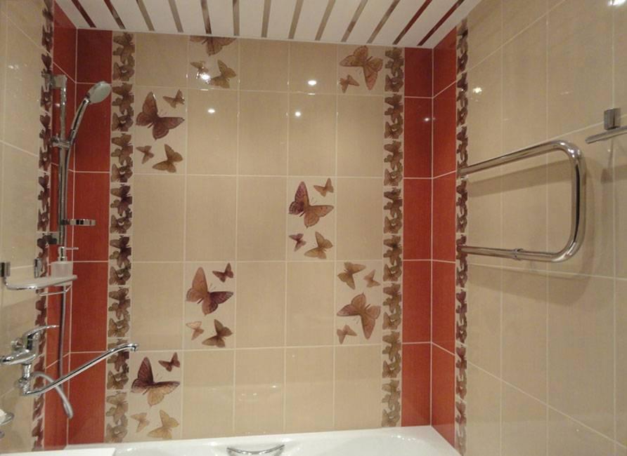 Раскладка плитки в ванной: примеры и схемы