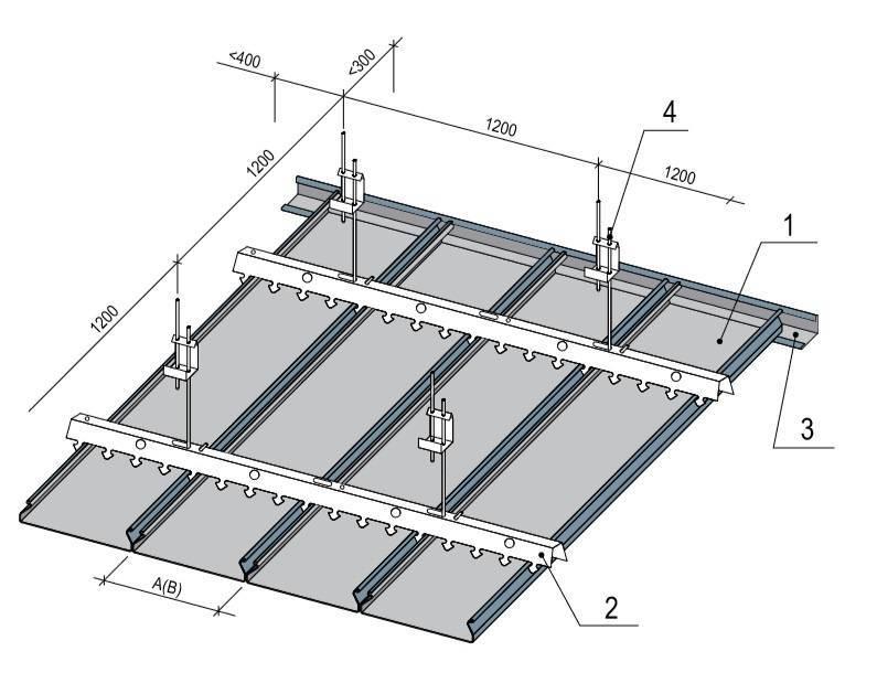 Виды металлических подвесных потолков и стоимость монтажа