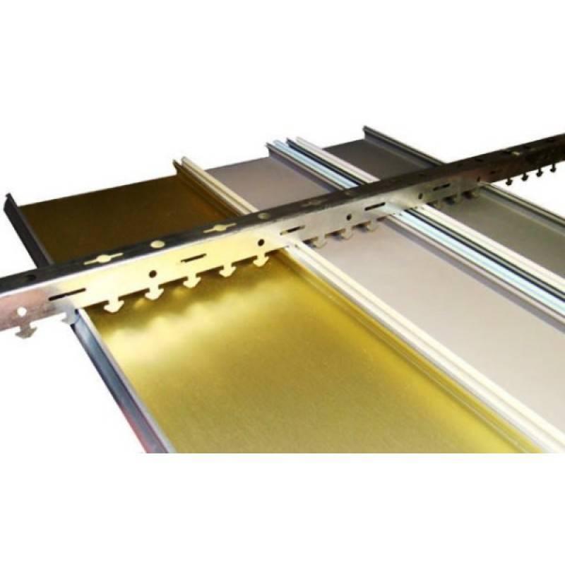 Алюминиевый потолок реечный: цена и ремонт комплектующих закрытых