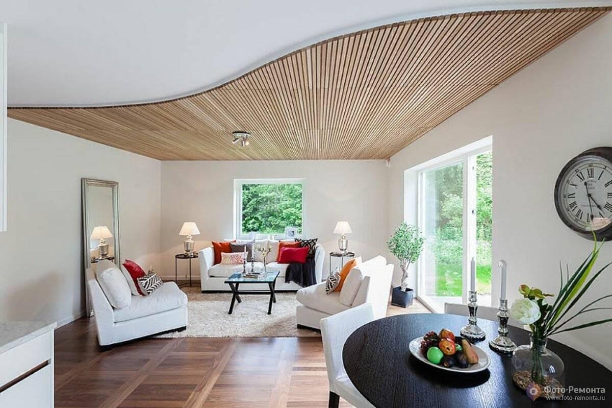 Отделка потолка: варианты оформления потолочной поверхности в квартире и доме, виды покрытий (фото)