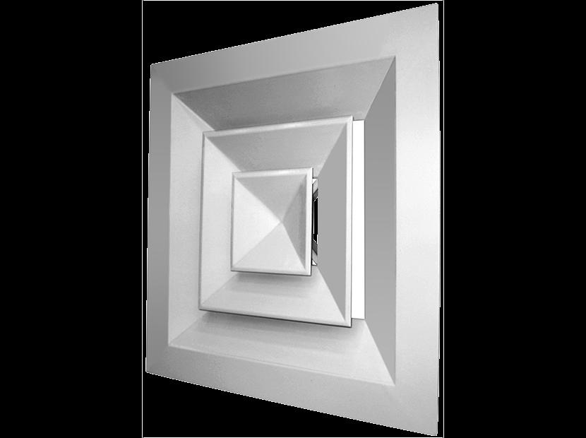 Вентиляционный диффузор: виды воздухораспределителей, предназначение, установка и монтаж потолочных моделей
